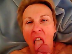 Amateur, Blonde, Blowjob, Granny, Old and Young