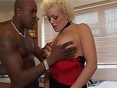 Blonde, British, Cumshot, Interracial