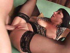 Big Boobs, Brunette, Mature, MILF, Stockings