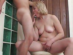 Blowjob, Mature, Saggy Tits