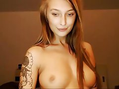 Redhead, Russian, Squirt, Tattoo