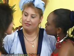 Threesome, Interracial, German, Chubby