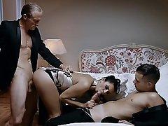 Russian, Russian, Lingerie, MILF, Threesome