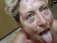 Blowjob, Cumshot, German, Granny, Mature