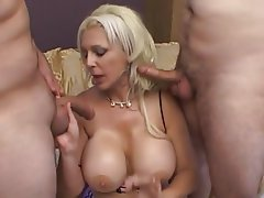 Big Boobs, Blonde, Threesome