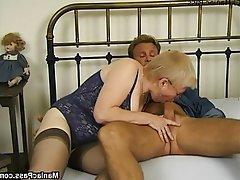 Blonde, Granny, Hardcore, Mature, Stockings
